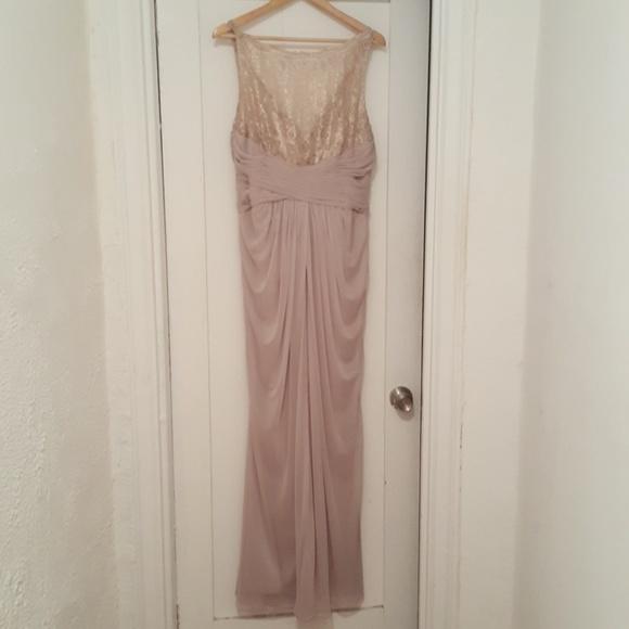 Davids Bridal Dresses Champagne Colored Formal Dress Poshmark